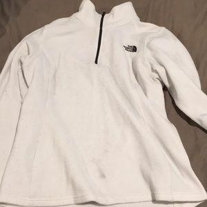 White north face fleece